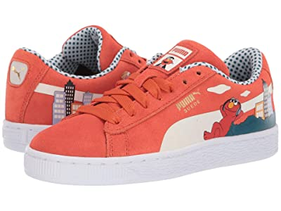 Puma Kids Sesame STR 50 Suede (Big Kid) (Cherry Tomato/Puma White) Kids Shoes