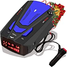Laser Radar Detector for Cars,Voice Prompt Speed, Vehicle Speed Alarm System,LED Display,City/Highway Mode,Auto 360 Degree Detection for Cars (Blue)