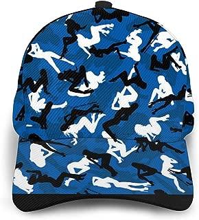 Baseball Cap Blue Flame Art Curved Brim Hat Snapback Hats for Women Men Unisex
