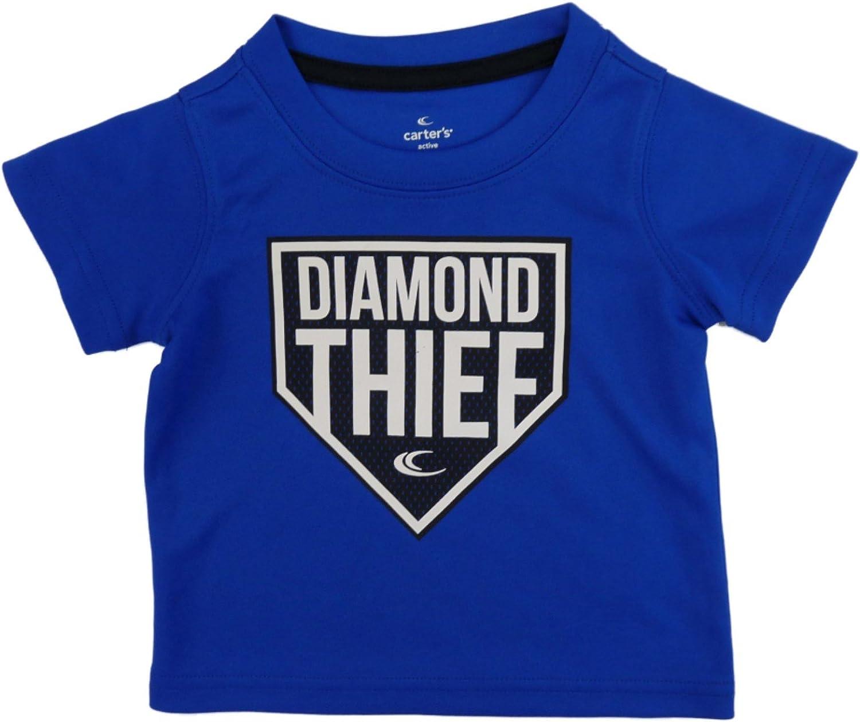 Carter's Boys Blue T-Shirt Diamond Thief Athletic Shirt 4