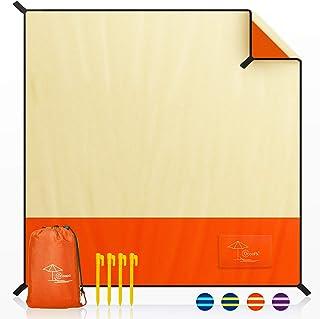 OCOOPA Couverture de Plage sans Sable, Extra Large 200x200cm, étanche au Sable, matériau Durable Doux et Confortable, Conc...