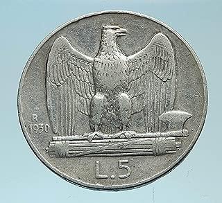 1930 IT 1930 ITALY King Victor Emmanuel III AR 5 Lire Ita coin Good Uncertified