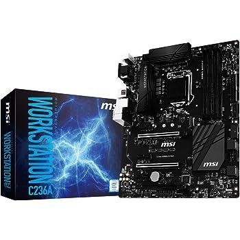 MSI LGA 1151 Intel C236 HDMI DDR4 USB 3.1 ATX Motherboard (C236A Workstation)