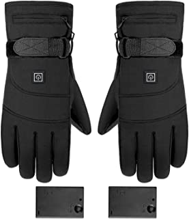 Verwarmde handschoenen, oplaadbare, op batterijen werkende elektrische handwarmer, 3 temperatuurniveaus, antislip touchscr...