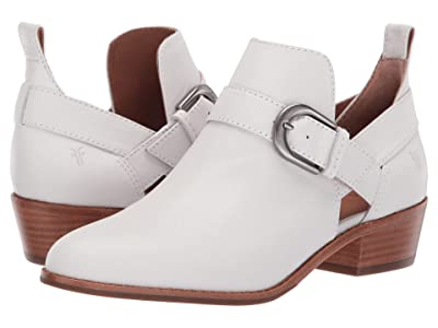 Frye Mia Cut Out Bootie (White Goat Pull Up) Women