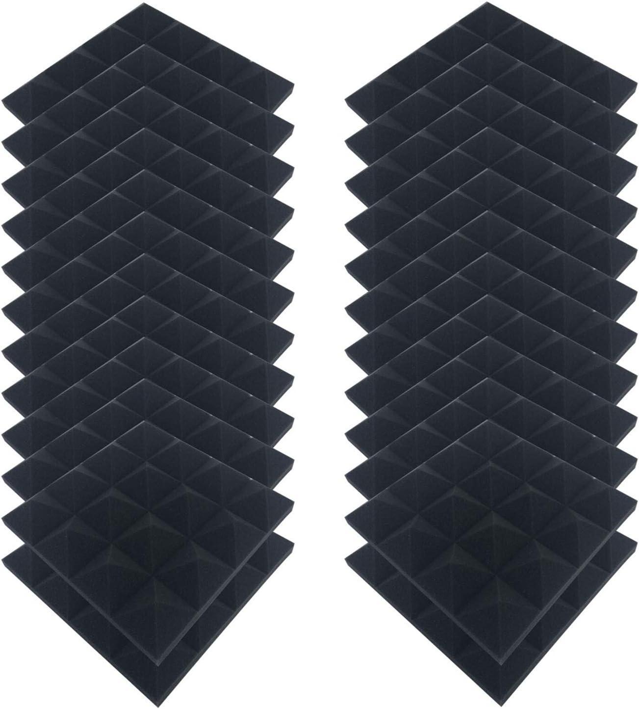 XUENING 24pcs Super sale period limited Acoustic Max 46% OFF Soundproofing Foam 25x25cm Egg Crate Stud