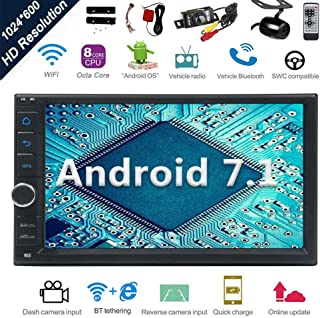 Android 7.1 32GB 2GB Car Stereo Radio with Octa Core Bluetooth GPS Navigation Support..