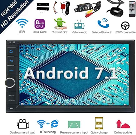 Android 7.1 32GB 2GB Car Stereo Radio with Octa Core Bluetooth GPS Navigation Support Fastboot WiFi