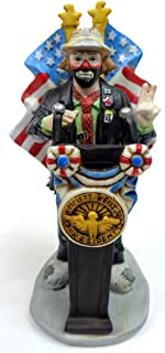 Collectible Porcelain Clown Figurine ''Emmett Kelly, Jr. for President'' w/Original Box