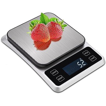 Smart Balance de Cuisine, TOUSEEDA 5 kg /11lb Balance Electronique, Numérique Professionnelle Haute Précision 0,1 g, écran Rechargeable USB HD LCD pour la Maison, la Cuisine, Le Bureau