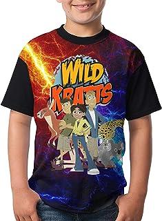 Yuanjutang Wild Kratts Youth Short Sleeve Tops Tee T-Shirt for Teen Boys and Girls
