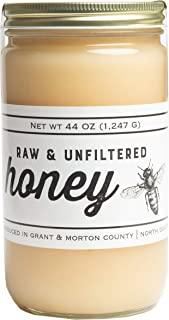 Sponsored Ad - TJO Bees Raw and Unfiltered Honey, 44 OZ Glass Jar
