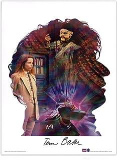 Tom Baker Signed Dr Who Silhouette Poster