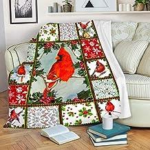 هدية عيد الحب بطانية الطائر الأحمر شيربا بطانية سوبر لينة رمي الصوف دافئ بطانية لغرفة النوم الأريكة أريكة غرفة المعيشة