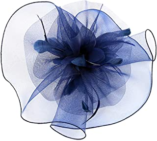 Kulywon Fascinator Hat Flower Feather Mesh Tea Party Hairband for Women Hair Band for Women