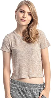 Forever 21 Rayon Round Neck Crop Top For Women
