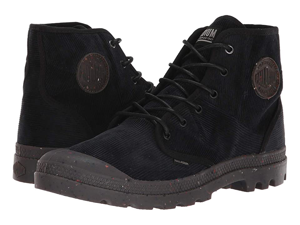 Palladium Pampa Hi Corduroy (Black/Black) Men