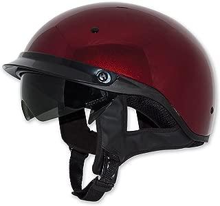 Zox Roadster DDV Adult Street Motorcycle Helmet - Candy Red/Medium