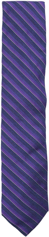 Altea Milano Men's Silk and Viscose Shiny Diagonal Stripe Necktie