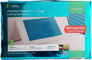 Comfort Revolution Memory Foam & Hydraluxe Cooling Bed Pillow - Queen Bed Pillow