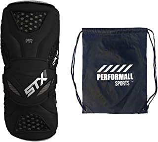 STX Cell 3 Lacrosse Armguard S 号黑色捆绑包带 1 个 Performall 运动包