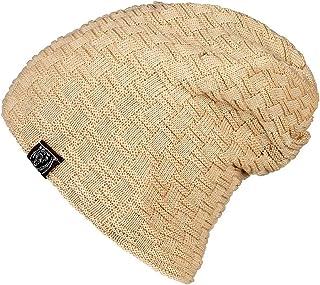 Opard Slouch lång mössa, finstickad mössa, varmt polyesterfoder, en storlek passar alla, unisex höst-/vintermössa