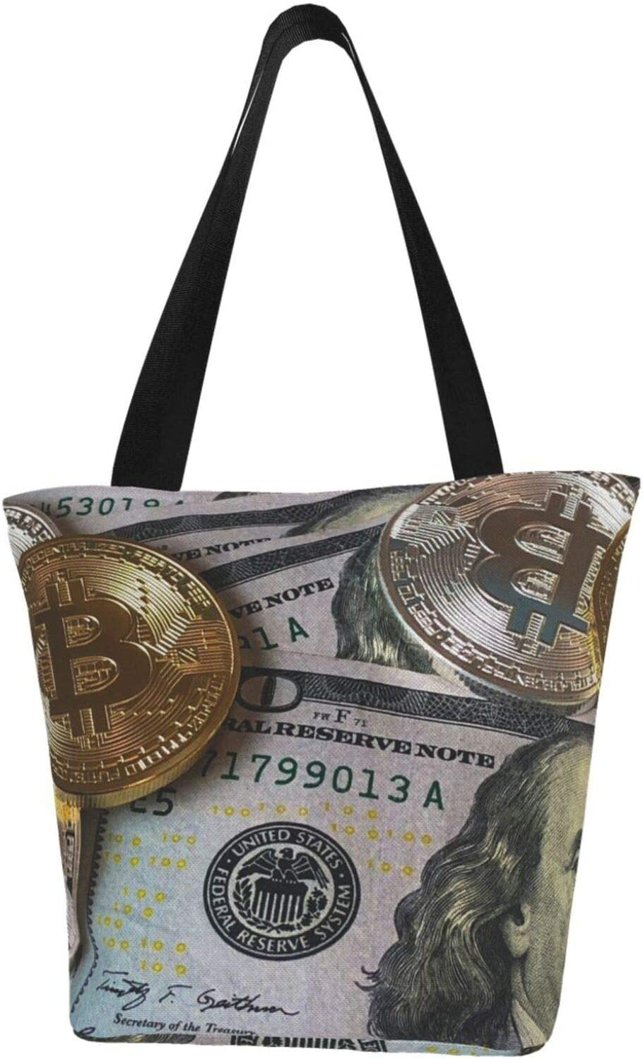 AKLID Dollar Bitcoin Network Extra Resistant Water New product Popular brand in the world Large Canvas