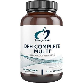 Designs for Health - Complete Multi, Copper & Iron Free, Full-Spectrum Multivitamin, Superior Absorption, 180 Vegetarian Capsules