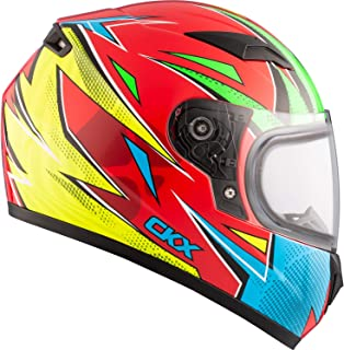 Snowmobile Helmet Full Face Youth Kids CKX RR519Y Atomic Yellow Red Green XLarge X-Large