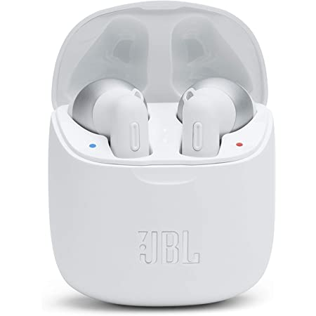 JBL Tune 225TWS True Wireless Earbud Headphones - JBL Pure Bass Sound, Bluetooth, 25H Battery, Dual Connect, Native Voice Assistant, Android and iOS Compatible (White)