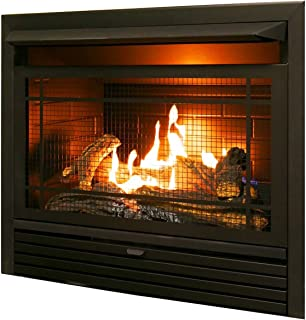 Duluth Forge Dual Fuel Ventless Insert-26,000 BTU, T-Stat Control gas fireplace, Black