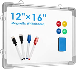 """Small Dry Erase White Board, ARCOBIS 12"""" x 16"""" Magnetic Hanging Double-Sided Whiteboard for Wall, Portable Mini Easel Boar..."""