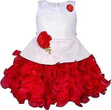 My Lil Princess Baby Girls Birthday Frock Dress Red Scuba_1-6 Years