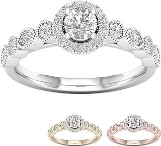 Present /& Future Diamond Pendant Frostrox 10K Gold 0.26 Carat Round Cut Past