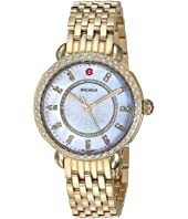 Michele - Sidney Classic White Mother-of-Pearl with Diamonds, Gold