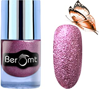 Beromt Sand Nail Art Polish, Matte Nail Lacquer, Party Girl Nail Paint, Show Bright Sparks, Purple, 603, 10ml