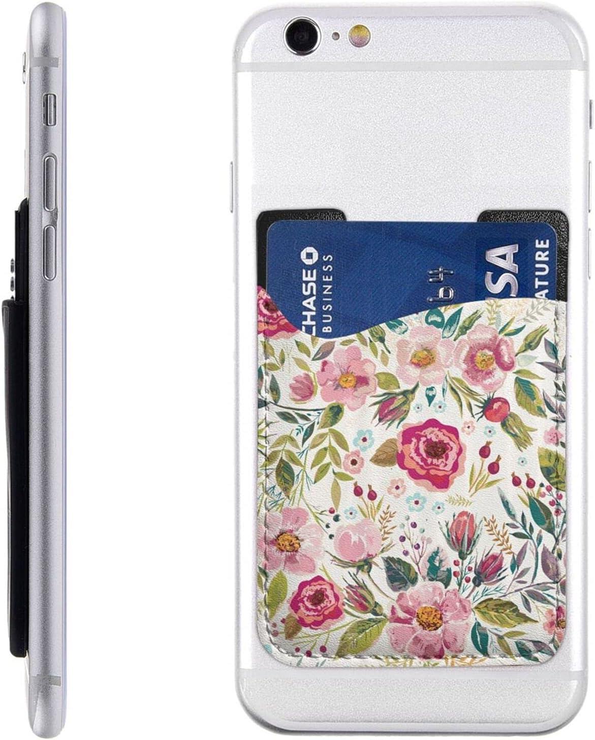 Flower Leaf Phone Card free Holder Wallet Cell Sl Very popular On Stick