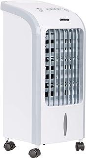 Mesko MS7914 Enfriador de aire, Ventilador, Purificador, Humidificador, 3 en 1, Consumo eficiente, 75 Vatios, Portátil, 3 niveles potencia, 5 litros, Blanco/gris