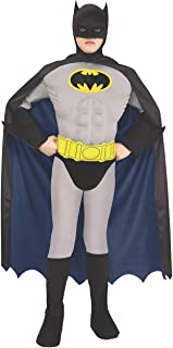 Super DC Heroes Deluxe Muscle Chest The Batman Child's Costume, Large