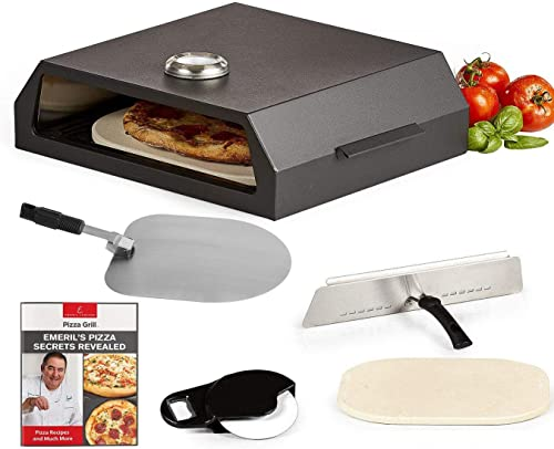 lowest Emeril Lagasse Pizza outlet sale Grill, Pizza Oven Kit for Outdoor Grill or Indoor Gas Stovetop, Premium Pizza Baking System, outlet online sale Black (Standard) outlet online sale