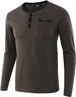 Estepoba Men's Casual Regular Fit Basic Long Sleeve Jersey Henley Pocket T-Shirt