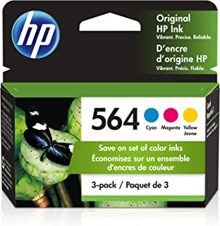 HP 564 | 3 Ink Cartridges | For HP Deskjet 3500 Series, HP Officejet 4600 5500 C6300 6500 7500 Series, B8550 D7560 C510 B2...