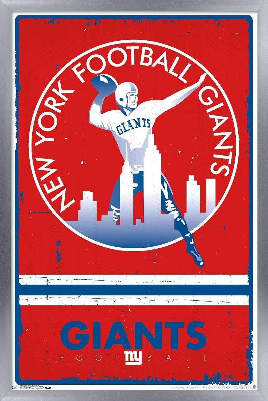 Trends Rapid rise International Louisville-Jefferson County Mall NFL New York Giants Logo - Po 15 Wall Retro
