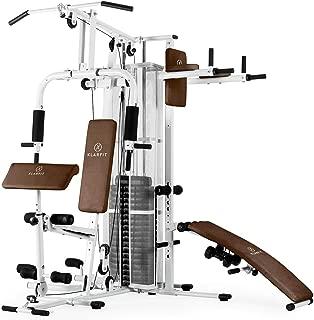 Klarfit Ultimate Gym 5000 - Multiestación de musculación, Entrenamiento Profesional, Múltiples Ejercicios para Hombros, Pecho, Brazos, piernas y Espalda, Pesos Ajustables y Poleas