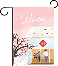 """Tuin Vlag Verticale Dubbelzijdige 12x18 """"Yard Outdoor Decoration.winter poster"""