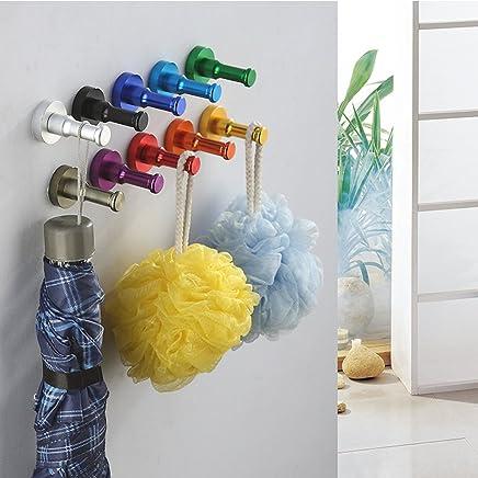 Baoblaze 帽子 コート ローブ 衣類など用 ラック フック ドア ウォール ハンガー ネジ付き 見事な色 多色選べる - ブロンズ