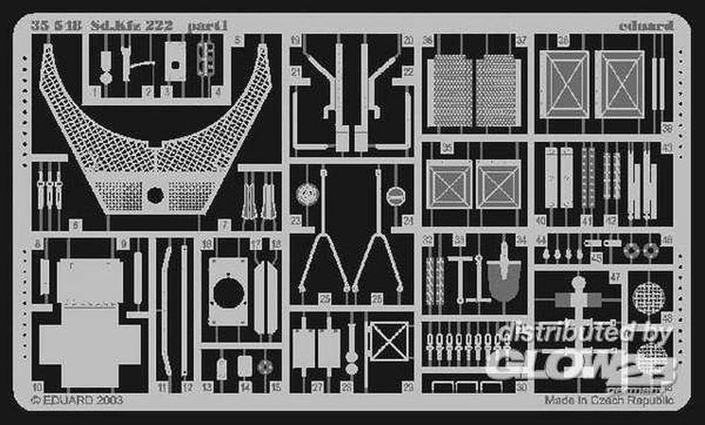 Eduard Photoetch 1 35  Sd.Kfz.222 (Tamiya)  EDP35548