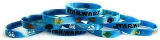 STAR WARS Bracelets Kids Birthday Party Favors - GLOW IN THE DARK (10 pack)
