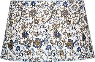 Oaks Lighting S160/12PA rigide doublé Abat-jour, coton, Multicolore