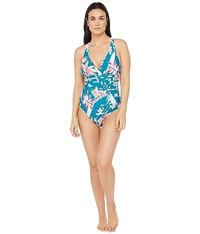La Blanca Flyaway Orchid Multi Strap Cross-Back Mio One-Piece Swimsuit (Caribbean Current) Women